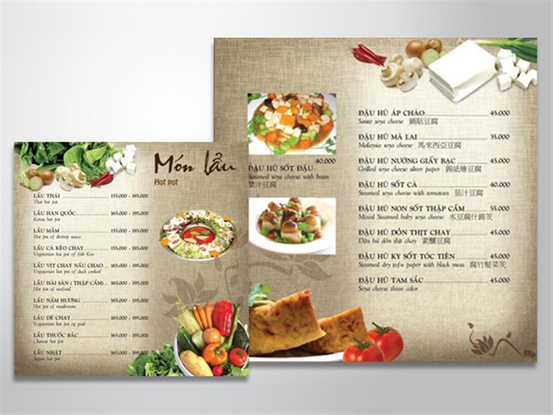 địa chỉ in menu