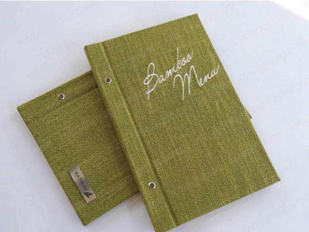 Thiết kế mẫu menu quán cà phê dạng vải