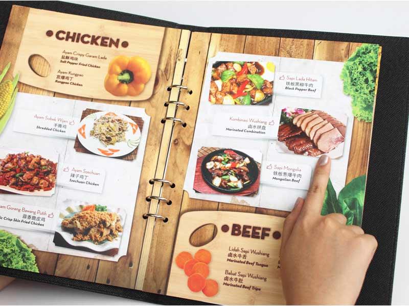 mẫu menu quán ăn