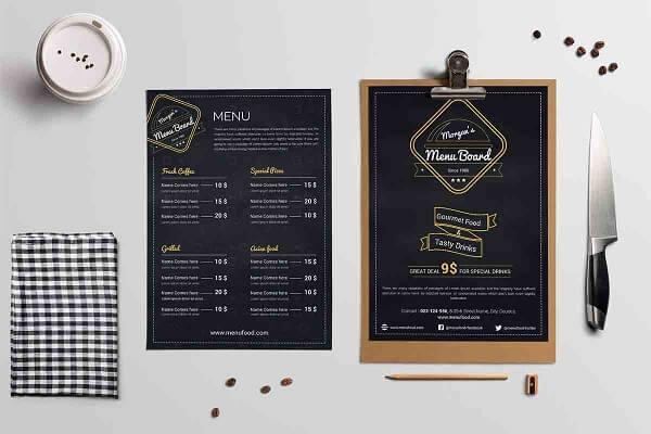 Các mẫu menu quán trà sữa phổ biến hiện nay