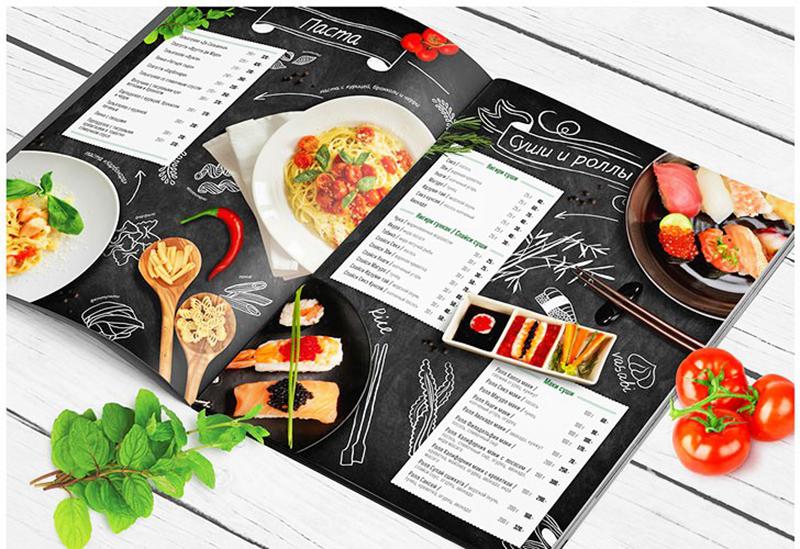 Thiết kế mẫu menu quán cà phê dạng quyển catalogue