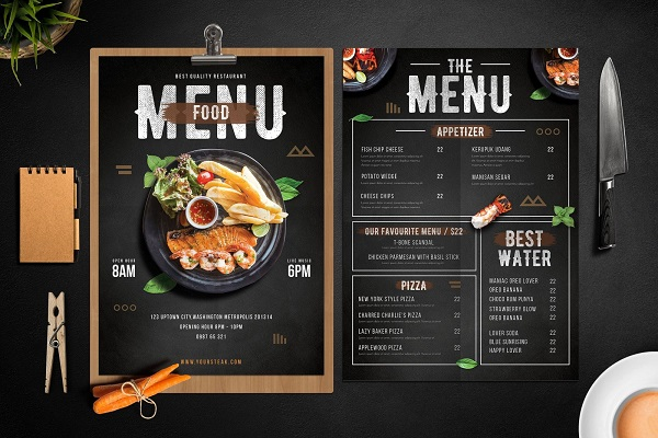 Gợi ý các mẫu menu quán ăn đẹp chuyên nghiệp