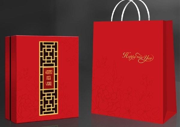 Gợi ý các mẫu túi giấy đựng quà tết đẹp, sang trọng