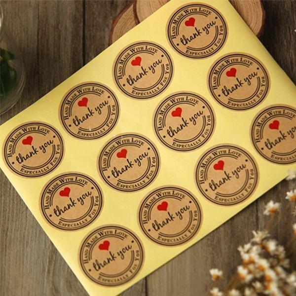 mẫu tem dán sản phẩm thiết kế đẹp mắt