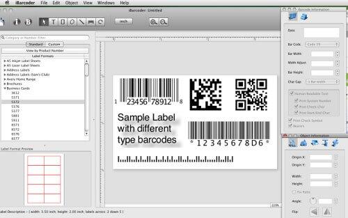Phần mềm thiết kế tem nhãn mã vạch iBarcoder for Mac